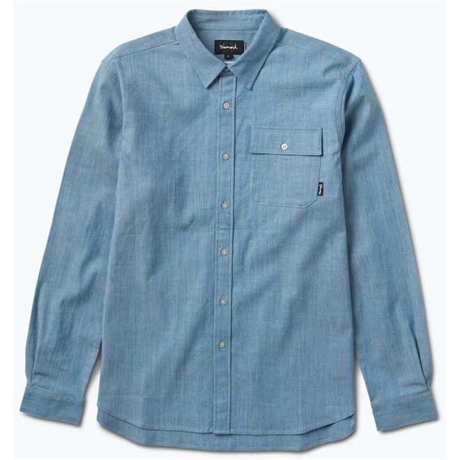 košile DIAMOND - Supply Chambray Ls Shirt Light Blue *Do Not Use* (LTBL)