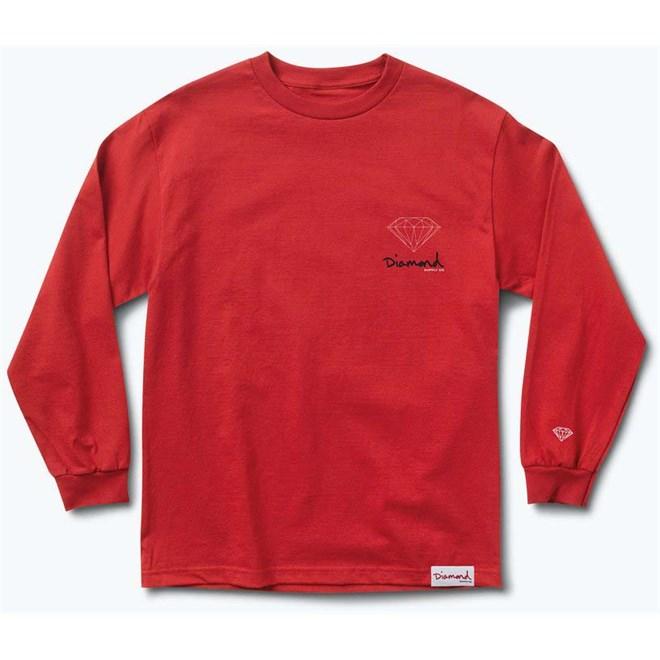 triko DIAMOND - Og Sign Fall 17 Ls Tee Red (RED)