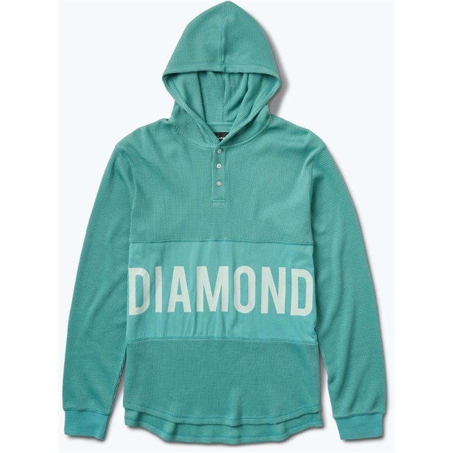 mikina DIAMOND - Winston Hooded Thermal Teal (TEAL)