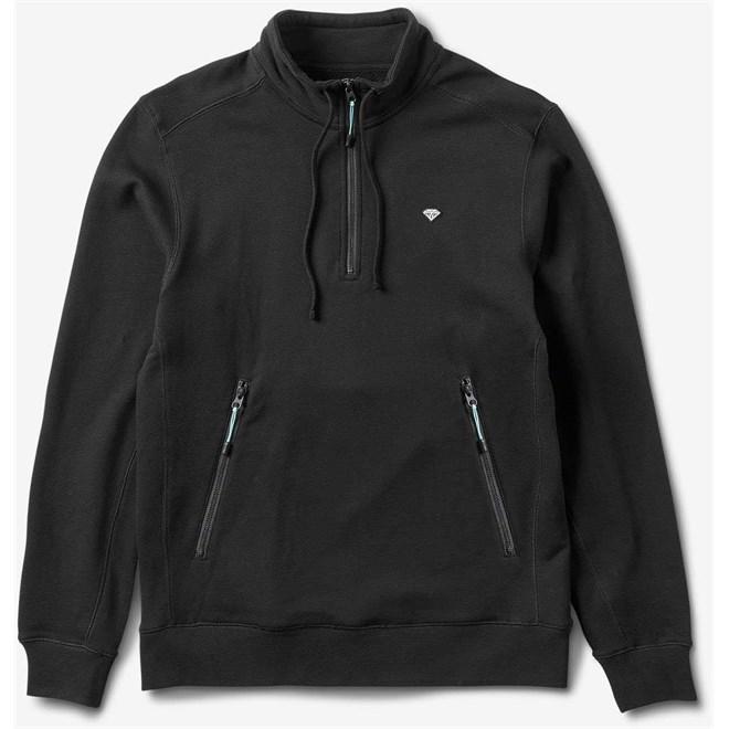 Sweatshirt DIAMOND - Diamante Mock Neck Pullover Black (BLK)