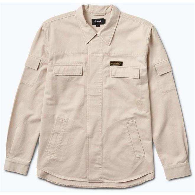 košile DIAMOND - Edgewater Long Sleeve Shirt Cream (CREAM)