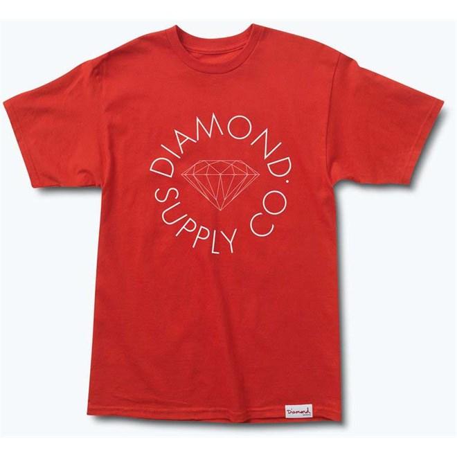 T-Shirt DIAMOND - Circle Logo Tee Red (RED)