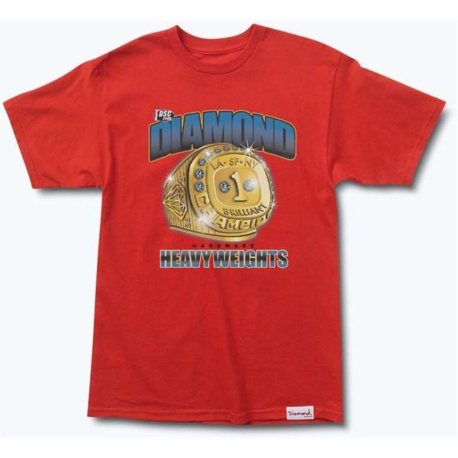 e9db49620bd1 tričko DIAMOND - Heavyweight Champs Tee Red (RED) veľkosť  L ...