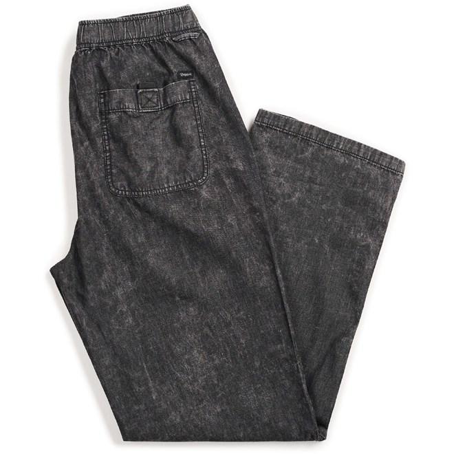 kalhoty BRIXTON - Steady Elastic Wb Pant Black Acid Wash (BLKAW)