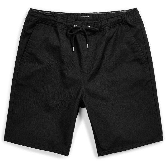 kraťasy BRIXTON - Madrid Ii Hemmed Short Black (BLACK)