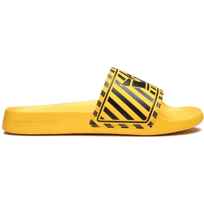 boty SUPRA - Lockup Black/Caution Stripe (004)