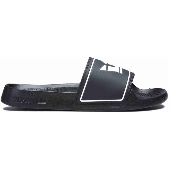 pantofle SUPRA - Lockup Black (008)