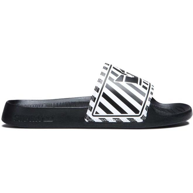 boty SUPRA - Lockup Black/White Stripe (027)