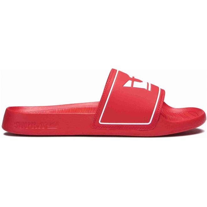 pantofle SUPRA - Lockup Risk Red (601)