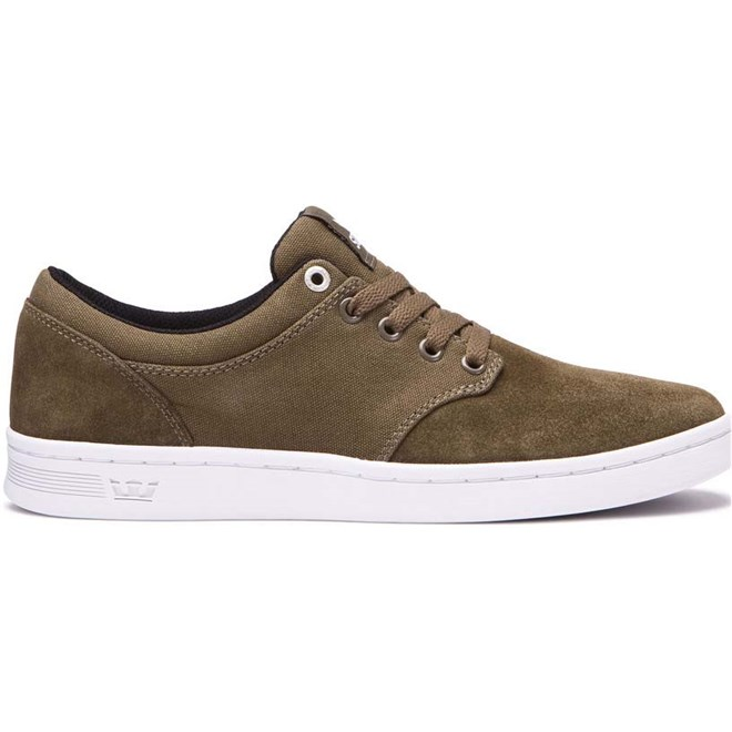 boty SUPRA - Chino Court Olive-White (323)