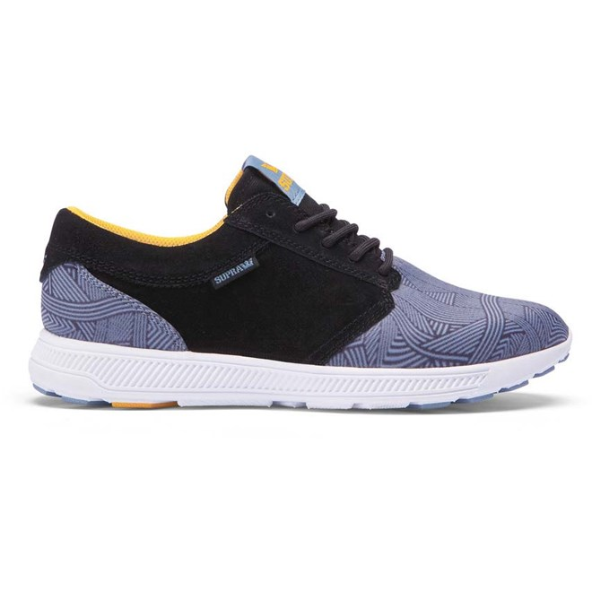 boty SUPRA - Hammer Run Black / Blue Print - White (022)