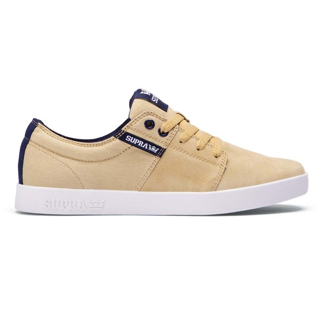 boty SUPRA - Stacks Ii Khaki / Navy - White (248)