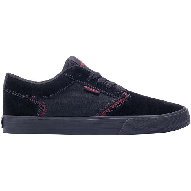 boty SUPRA - Shredder Black Red - Black (052)