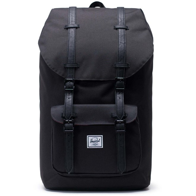 db742ac0a batoh HERSCHEL - Little America Black/Black Synthetic Leather (00535 ...