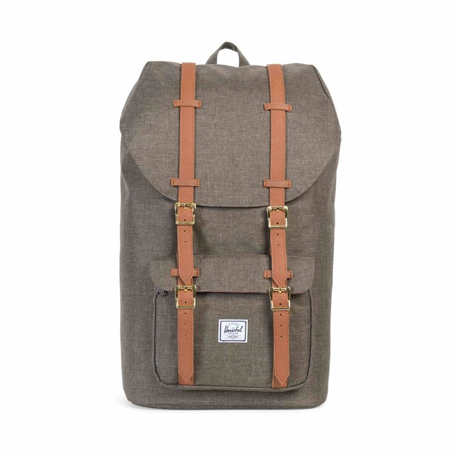 aa0f541e155 batoh HERSCHEL - Little America Canteen Crosshatch Tan Synthetic Leather  (01247)