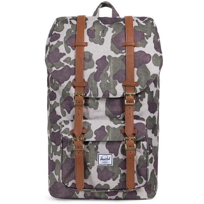 batoh HERSCHEL - Little America Frog Camo-Tan Synthetic Leather (01858)