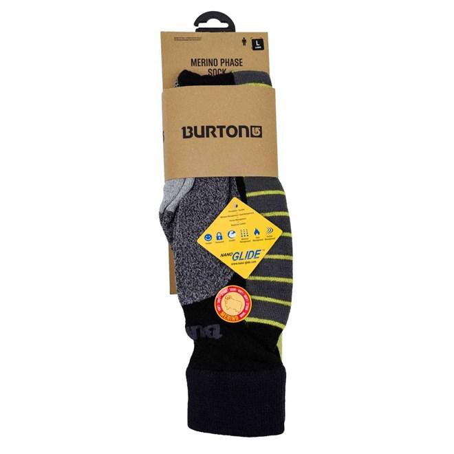 ponožky BURTON - M Mrno Phase Sk 3Pr True Black (002)