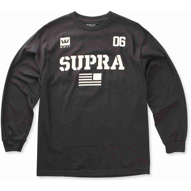 tričko SUPRA - Team Usa Ls Black-Bon (039)  83cf1fb190
