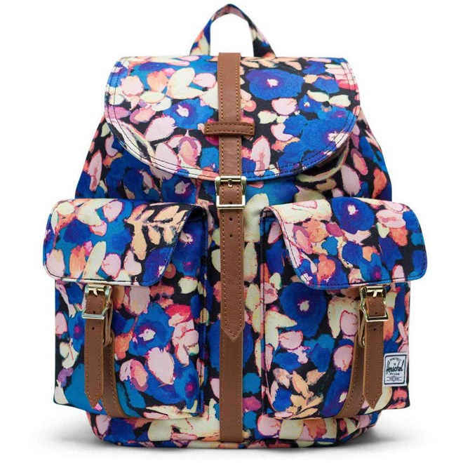 batoh HERSCHEL - Dawson Small Painted Floral/Tan Synthetic Leather (02459)
