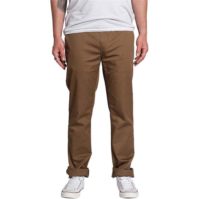 kalhoty KREW - K Slim Chino Coffee (212)