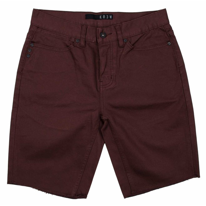 kraťasy KREW - K Slim 5 Pocket Shor Oxblood (602)