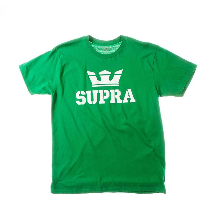 triko SUPRA - Above Regular Ss Tee Green/White-Wht (366)