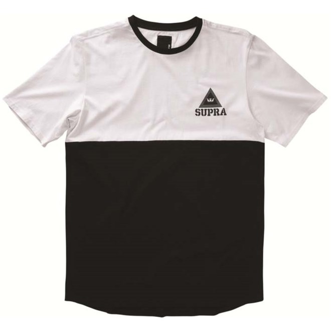 mikina SUPRA - Block Ss Crew White-Black (102)