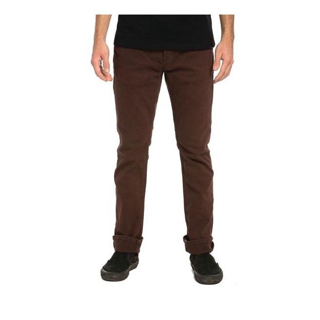 kalhoty KREW - K Slim Denim Pant Oxblood Od (608)