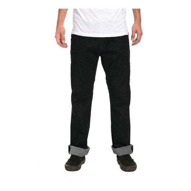 kalhoty KREW - Klassic Denim Pant Dark Black (058)