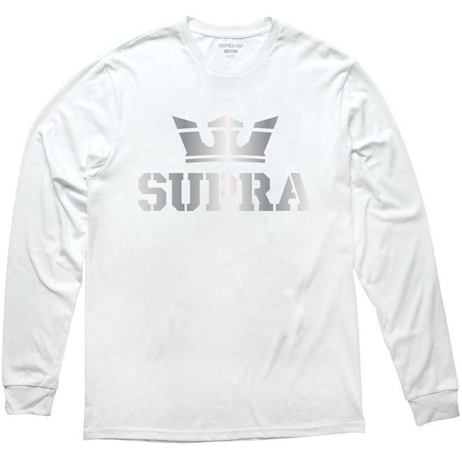 triko SUPRA - Above Longsleeve Tee White/Silver (155)