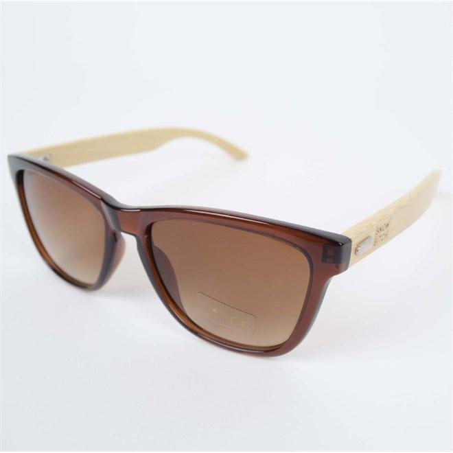 sluneční brýle SNOWBITCH - Clear brown frame bamboo arms with Brown lens 34 (CLEAR)