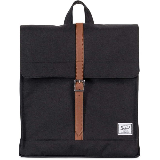 batoh HERSCHEL - City Mid-Volume Black-Tan Synthetic Leather (00001)