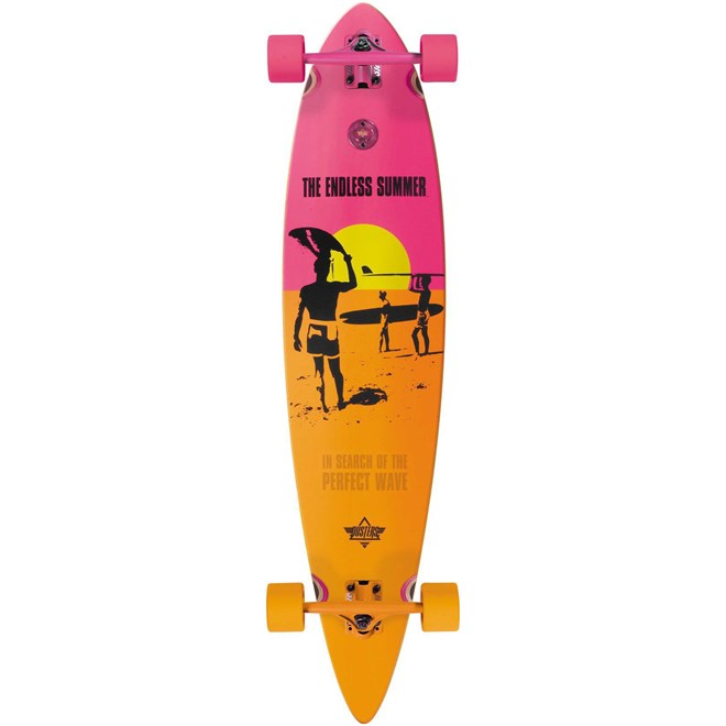 longboard DUSTERS - Endless Summer Yellow/Orange/Pink (YELLOW ORANGE PINK)