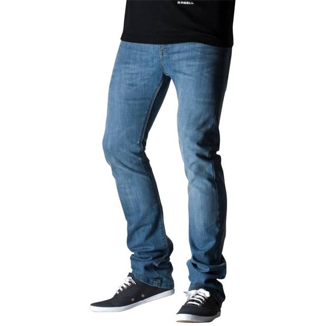 kalhoty REELL - Skin Mid Blue (MID BLUE)