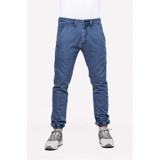 kalhoty REELL - Jogger Pant Premium Mid Blue (PREMIUM MID BLUE)
