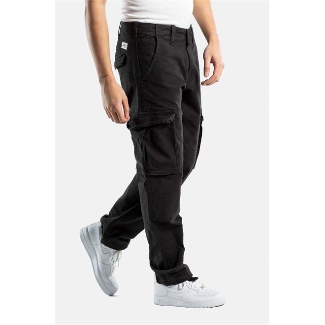 kalhoty REELL - Flex Cargo Black Canvas (121)