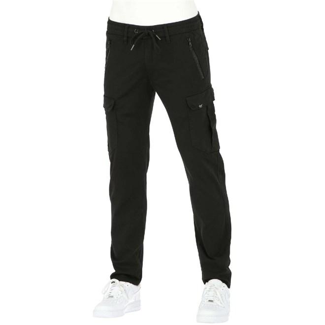 kalhoty REELL - Cargo Tech Pant Flex Black (FLEX BLACK)