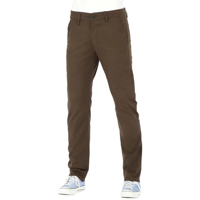 kalhoty REELL - Straight Flex Chino PC Dark Brown (151)