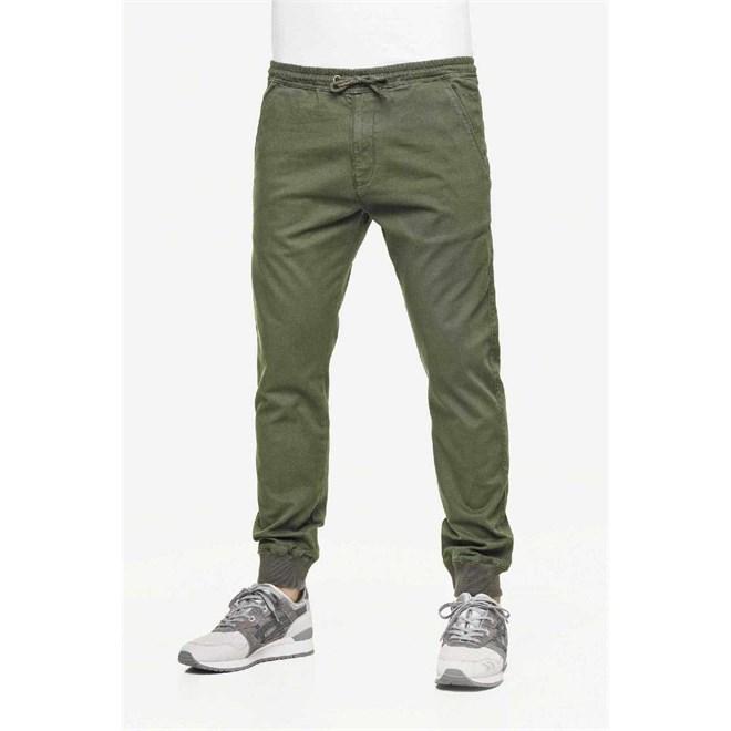 kalhoty REELL - Reflex Rib Pant Olive (OLIVE)