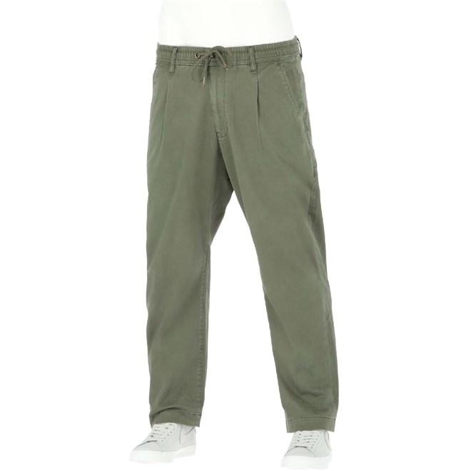 kalhoty REELL - Reflex Loose Chino Olive (OLIVE)