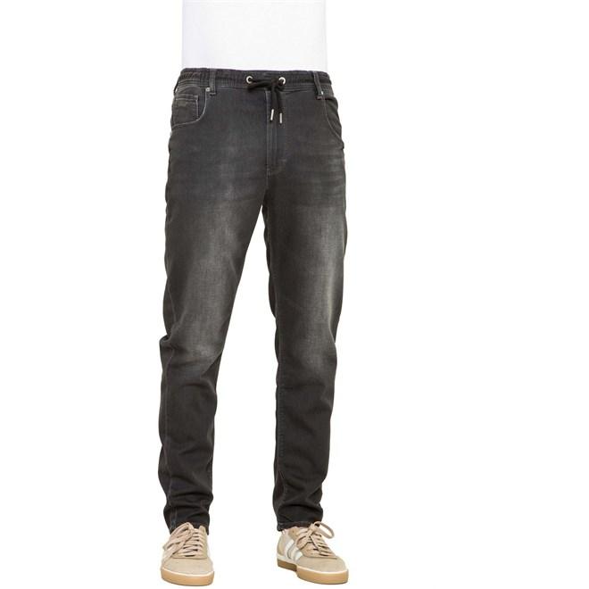 kalhoty REELL - Jogger Jeans Black Wash (BLACK WASH)
