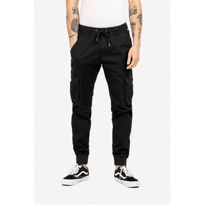 kalhoty REELL - Reflex Rib Cargo Black (120)