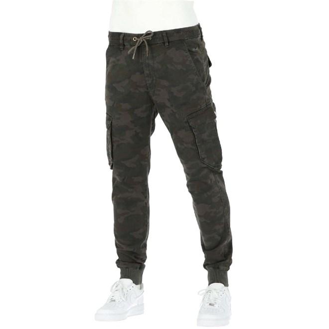 kalhoty REELL - Reflex Rib Cargo Black Camo (BLACK CAMO)