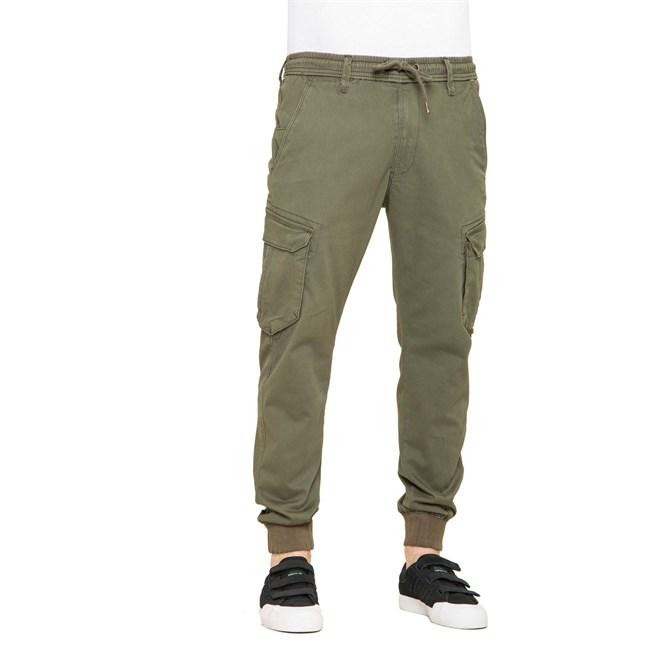 kalhoty REELL - Reflex Rib Cargo Olive (OLIVE)