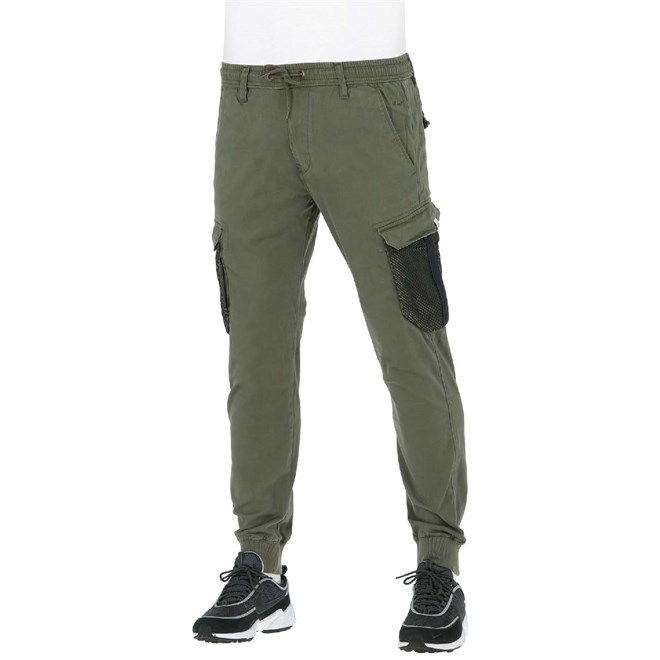 kalhoty REELL - Reflex Rib Cargo Mesh Olive (OLIVE)