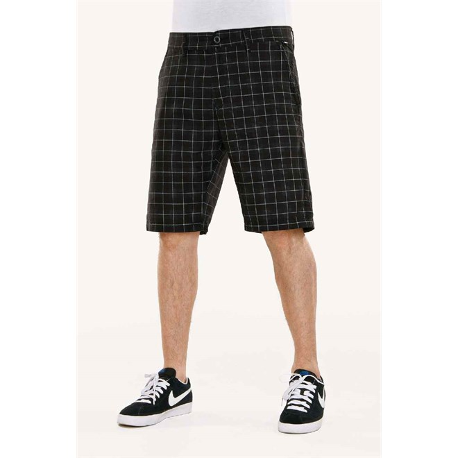 kraťasy REELL - Chino Short Chequered Black (BLK)