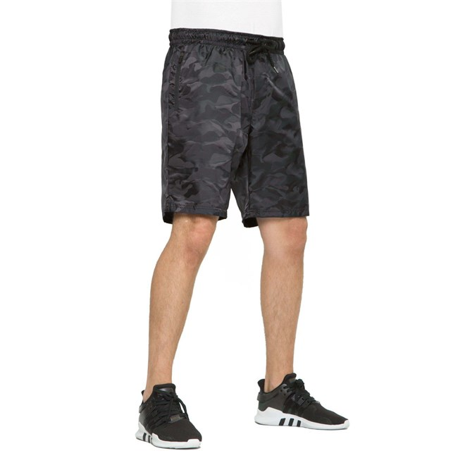 kraťasy REELL - Tech Zip Short Black Camo (120)