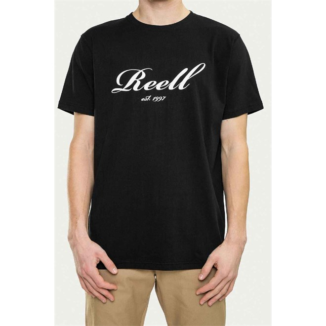 triko REELL - Big Script T-Shirt Black (BLACK)