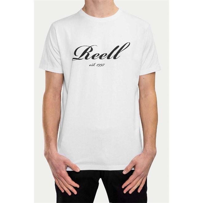 triko REELL - Big Script T-Shirt White (WHITE)