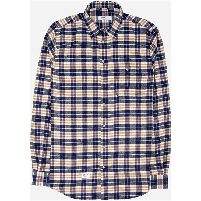 košile REELL - Check Shirt Dark Sand (DARK SAND)